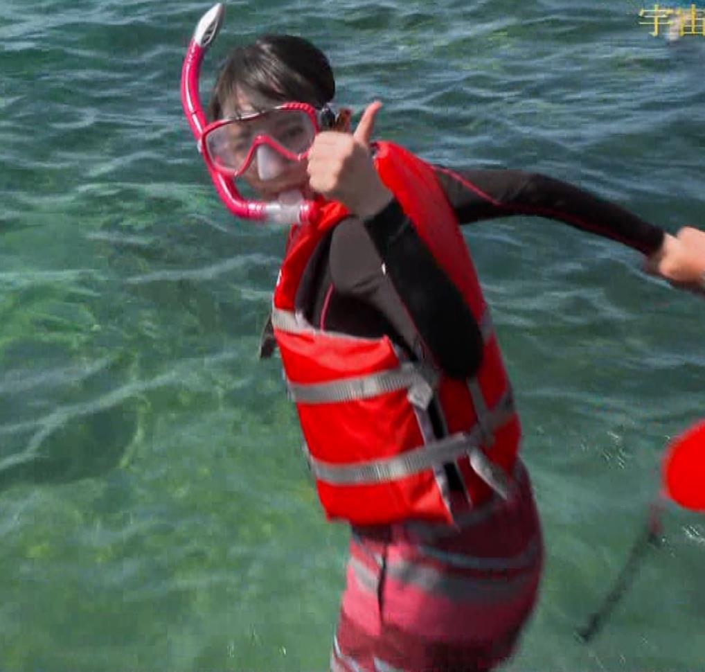 吉岡里帆 BSで水着姿になってたよ[横乳]キャプ・エロ画像12