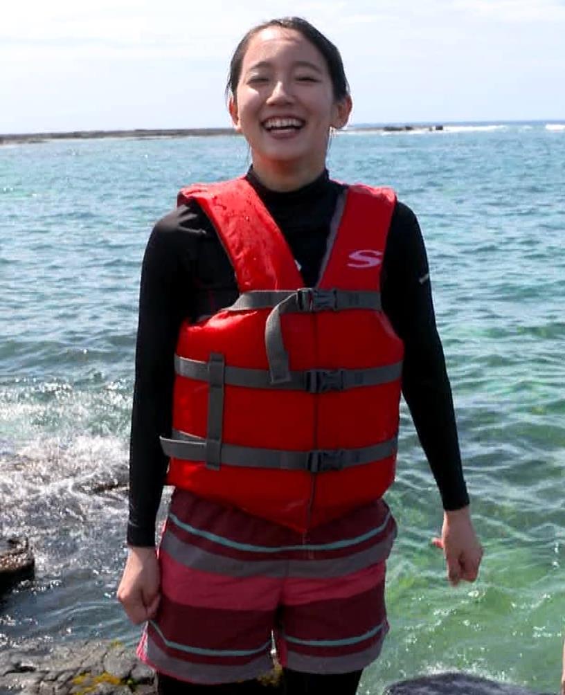 吉岡里帆 BSで水着姿になってたよ[横乳]キャプ・エロ画像13