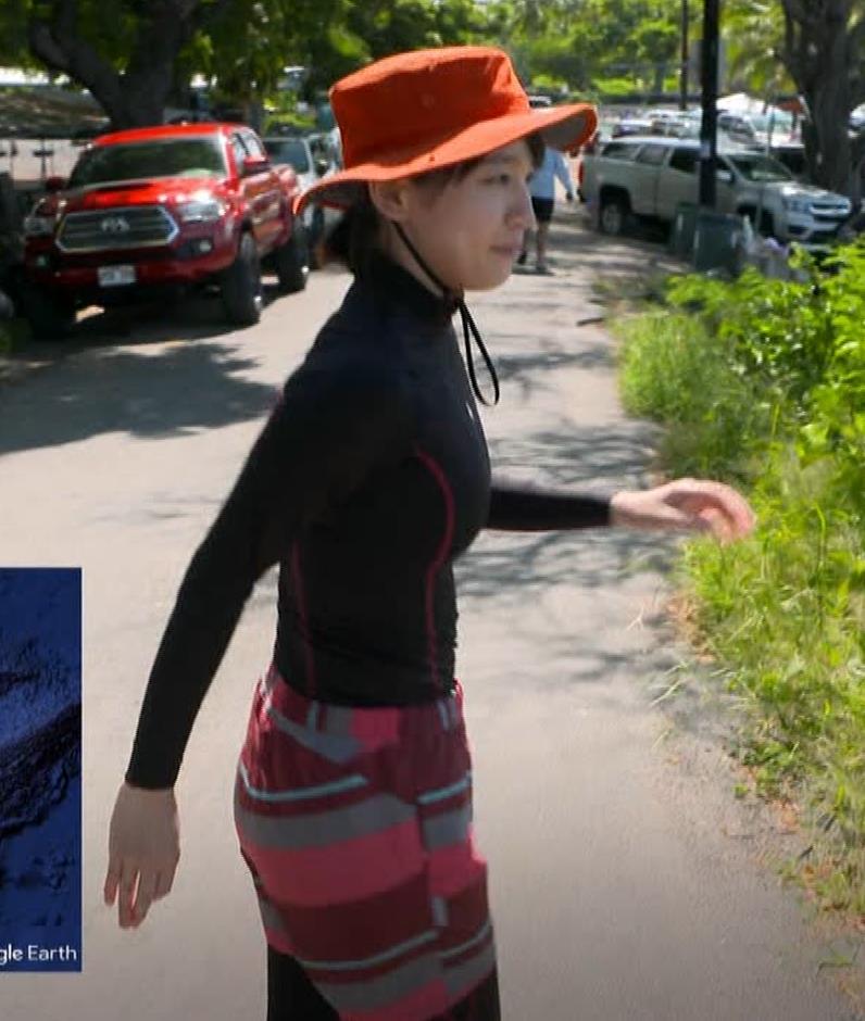 吉岡里帆 BSで水着姿になってたよ[横乳]キャプ・エロ画像5