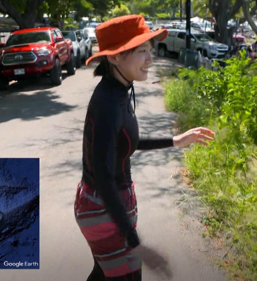 吉岡里帆 BSで水着姿になってたよ[横乳]キャプ・エロ画像6
