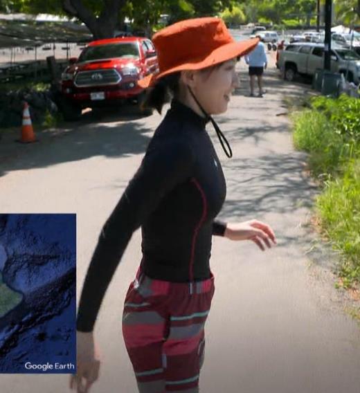 吉岡里帆 BSで水着姿になってたよ![横乳]キャプ画像(エロ・アイコラ画像)