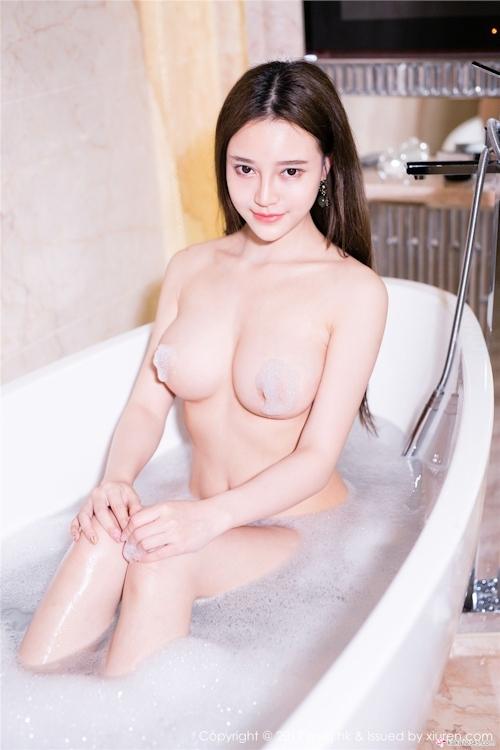 中国美女モデル 唐琪儿Beauty セクシーセミヌード画像3 5
