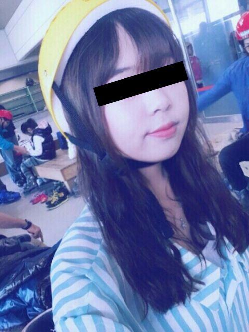 韓国の素人美女(23歳)がラブホで自分撮りした流出ヌード画像 1