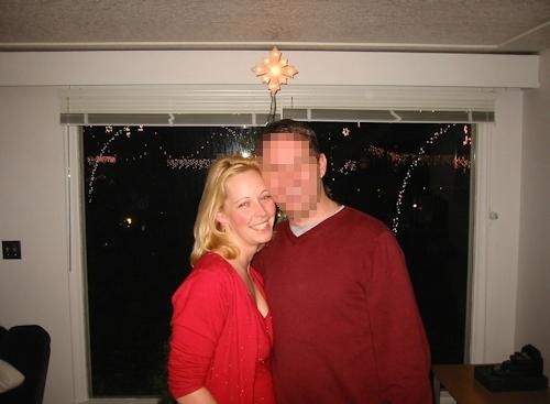 クリスマスに撮影した金髪西洋素人美女のプライベートヌード画像 1