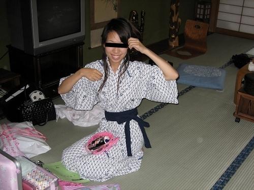 温泉旅館で撮影した日本の素人美女の流出ヌード画像 1