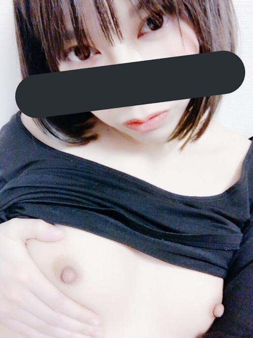 美微乳な日本の素人美少女が裏垢にアップした自分撮りヌード画像  8
