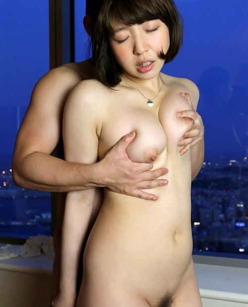 色白巨乳美女 水元沙耶 セックス画像 8