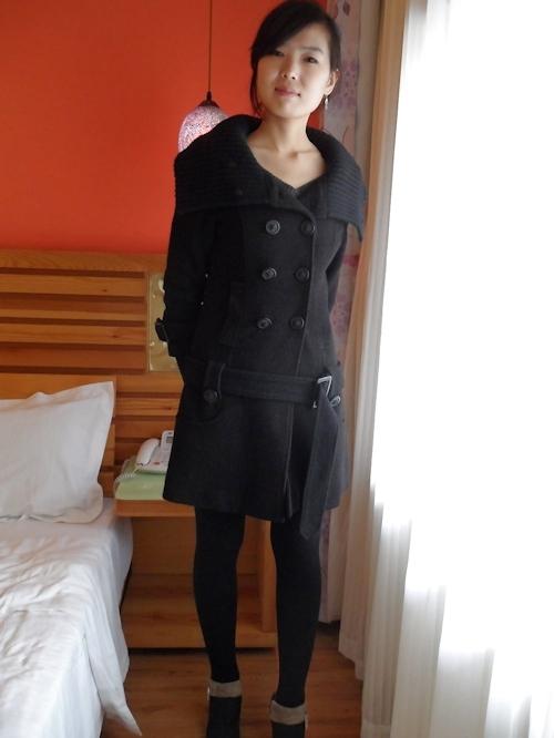 中国のガールフレンドをホテルで撮影したヌード画像 1