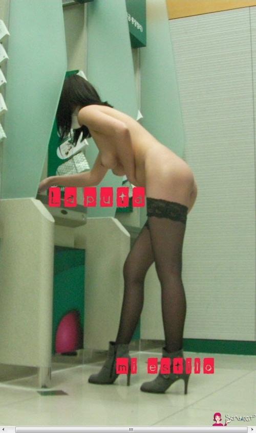 美乳な韓国素人女性が露出プレイしてるヌード画像 4