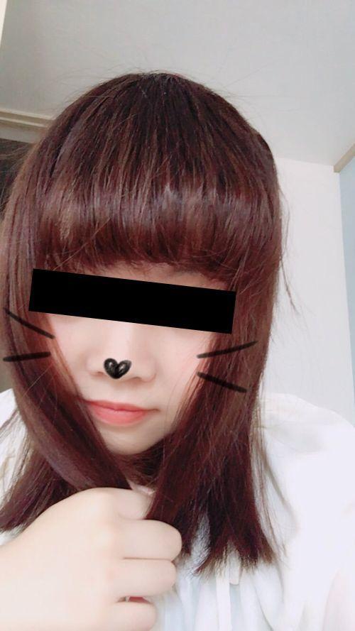 日本の素人美少女が裏垢にアップしていた自分撮りおっぱい画像 1