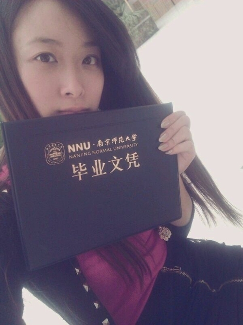 中国の美人女子大生のプライベートヌード画像が流出 1