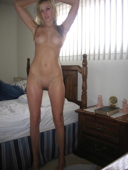 金髪の美しいマダムの自分撮りヌード画像が流出 7