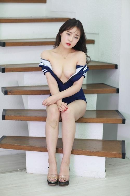 韓国美女モデルを撮影したヌード画像 5