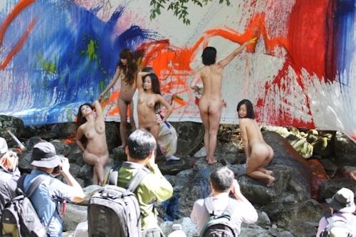 野外ヌード撮影会の画像 11