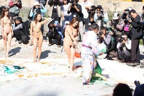 野外ヌード撮影会の画像 16