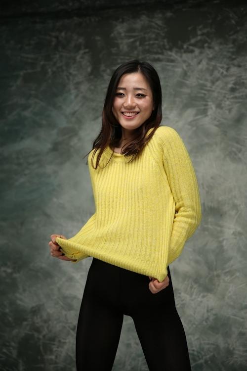 韓国のスレンダーな素人美女を撮影したヌード画像 1