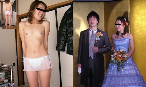 新婚妻のウエディングドレス写真と流出ヌード画像特集 4