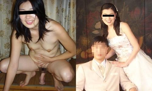 新婚妻のウエディングドレス写真と流出ヌード画像特集 5