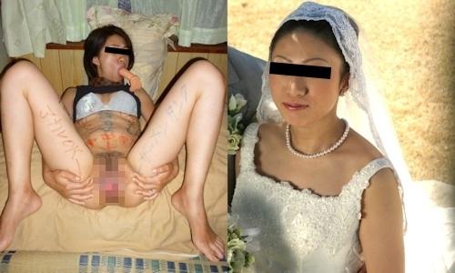新婚妻のウエディングドレス写真と流出ヌード画像特集 8