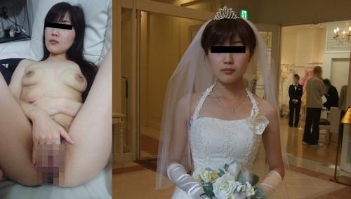 新婚妻のウエディングドレス写真と流出ヌード画像特集 9