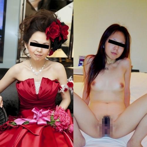 新婚妻のウエディングドレス写真と流出ヌード画像特集 11