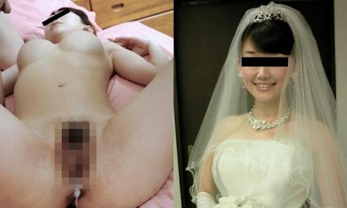 新婚妻のウエディングドレス写真と流出ヌード画像特集2 4