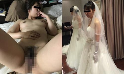 新婚妻のウエディングドレス写真と流出ヌード画像特集2 5