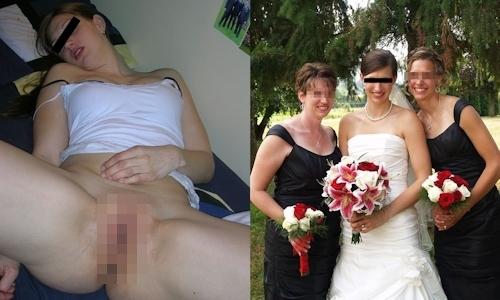 新婚妻のウエディングドレス写真と流出ヌード画像特集2 6