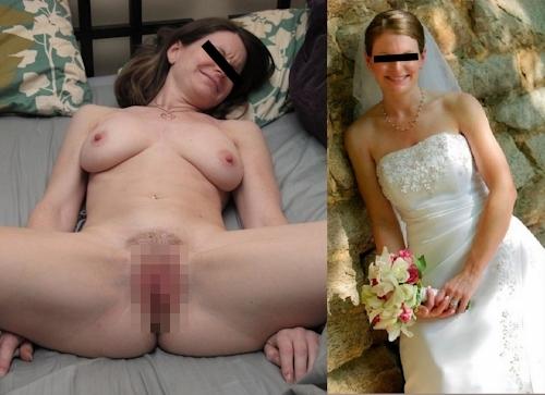 新婚妻のウエディングドレス写真と流出ヌード画像特集2 7