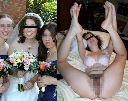 新婚妻のウエディングドレス写真と流出ヌード画像特集2 8
