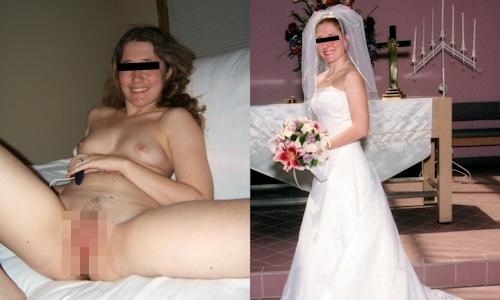 新婚妻のウエディングドレス写真と流出ヌード画像特集2 10