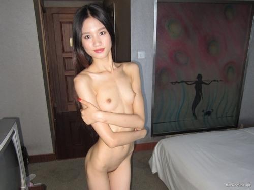 ガリガリスレンダーなアジアン美女のヌード画像 6