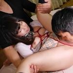 JK制服のパイパン美少女 柚月ちゃんの緊縛セックス画像