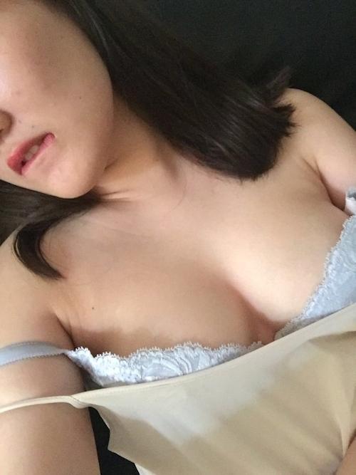 巨乳な素人美女の自分撮りヌード画像 5