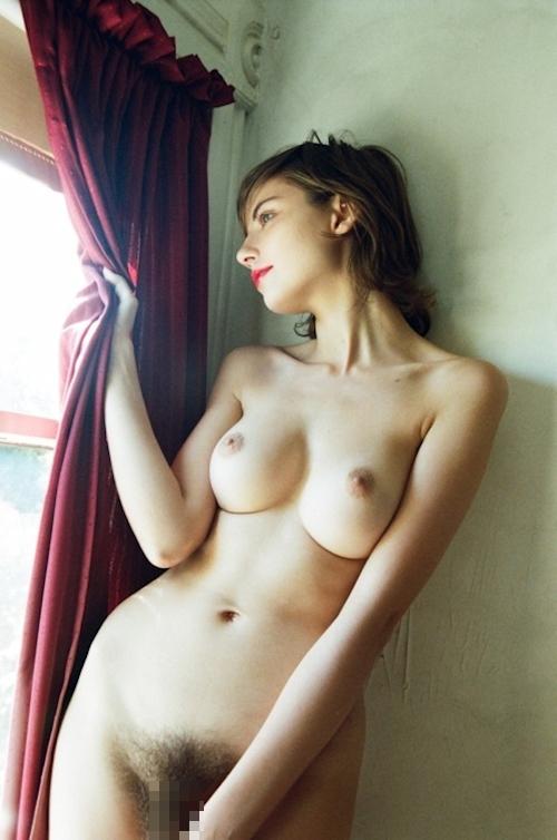 剛毛な美巨乳西洋美女のヌード画像 1