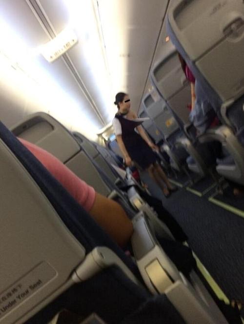 CAが乗客に制服を引き裂かれおっぱいポロリしちゃった画像!? 1