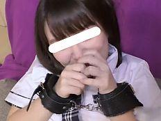 【無】制服姿のプリケツ萌えカワ娘を手錠拘束調教着ハメ撮り♪||