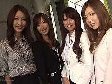【無】モデル級スタイルの美人女子アナ4人組がまさかのハレンチ中出し乱交祭り♪