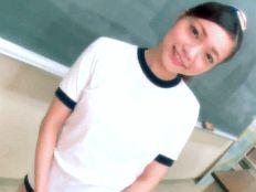 【無】ブルマ姿が超似合う萌えカワポニテ娘が放課後の教室で先生と中出し授業♪
