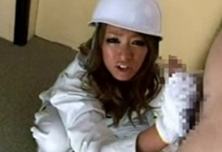 黒ギャル作業員手袋コキ!RUMIKA