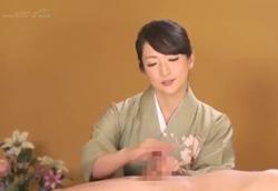 【和服・手コキフェラ】極上射精の流儀「おち○ぽ作法教室」1