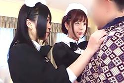 【紗倉まな 南梨央奈】美少女メイドと夢のハーレムプレイ!