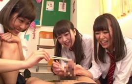 JKオナサポ模擬店チ○ポ弄り!1