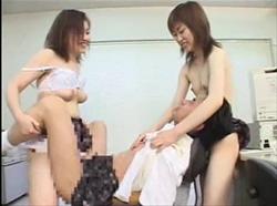 【M男】ペニバンJK 強制女装3P逆輪姦!