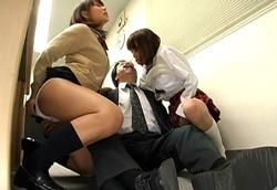 ベロ舐め唾液責め手コキ痴女JK!2