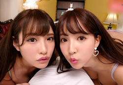 【VR】人気美人女優2人と超豪華ハーレム逆3P!三上悠亜 橋本ありな
