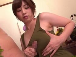 奥田咲 ノーブラワンピ姿のエロ巨乳美女が着衣のままフェラパイズリ抜き!