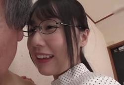 文系メガネ痴女お姉さんのささやき耳舐めチンポコキ!つぼみ1