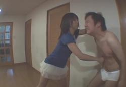 【M男】ミニスカ黒ブーツぼこぼこサンドバックM格闘!2